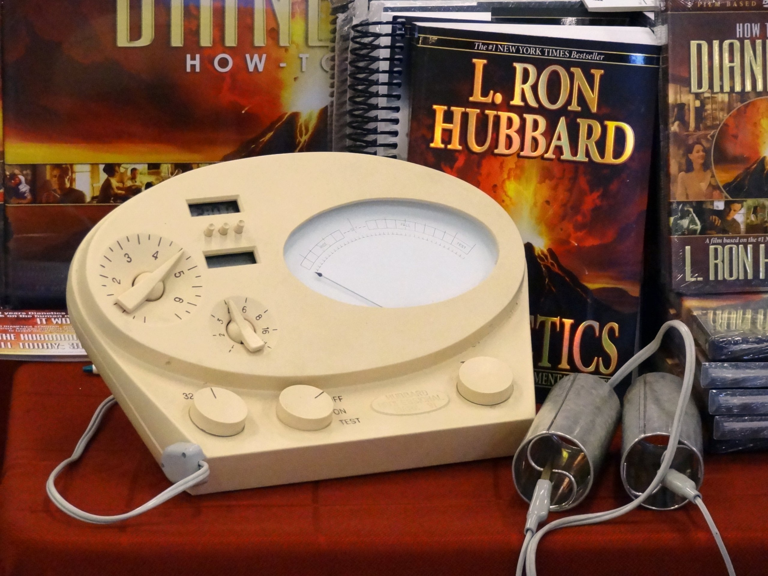 scientology books and e-meter