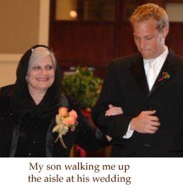 Sue at her son's wedding