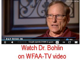 Dr. Ray Bohlin interviews on WFAA-TV