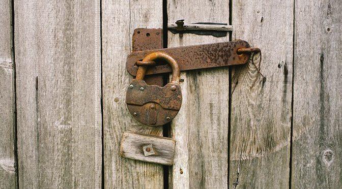 locks on a closed door