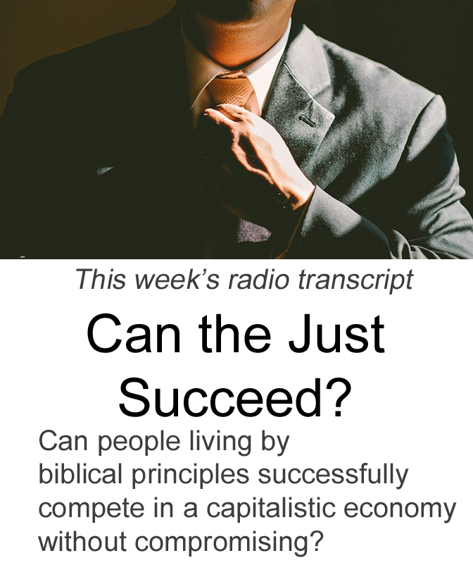 Can the Just Succeed? Banner