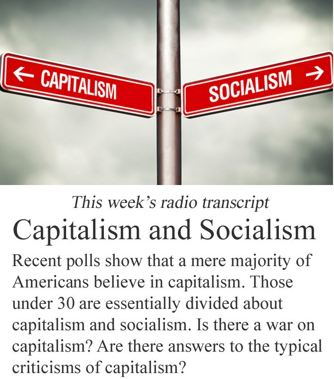Capitalism and Socialism Banner