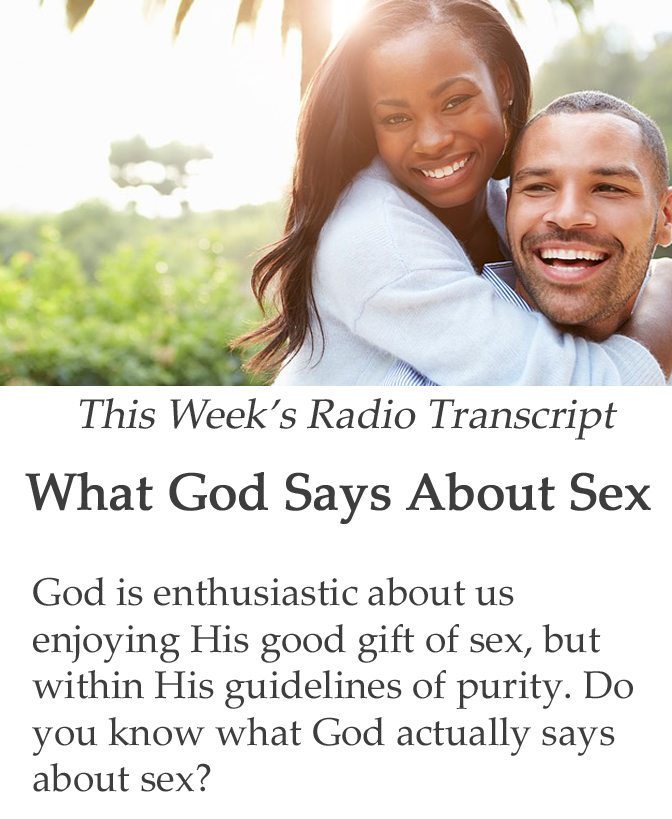 What God Says About Sex banner