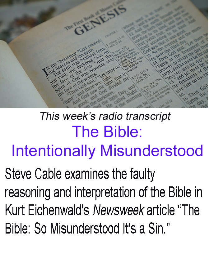 Bible Intentionally Misunderstood banner