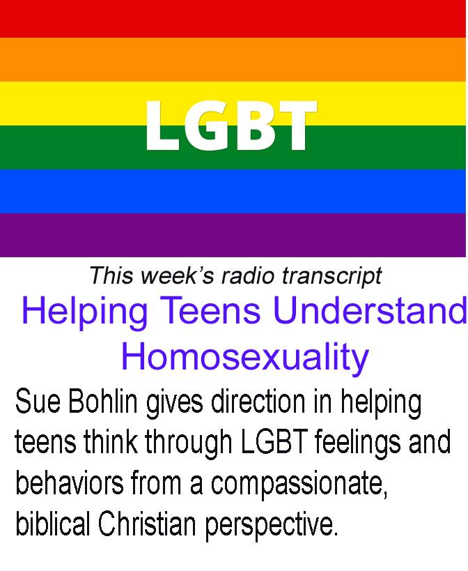 Helping Teens Understand Homosexuality Banner