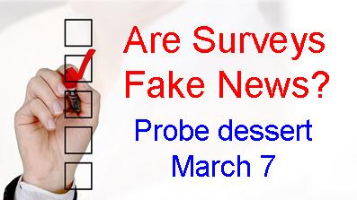 Probe dessert 3/7/19 about surveys and fake news