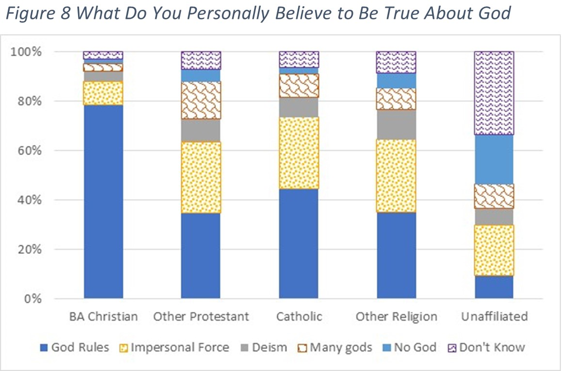 Fig. 8 - What do you personally believe to be true about God?